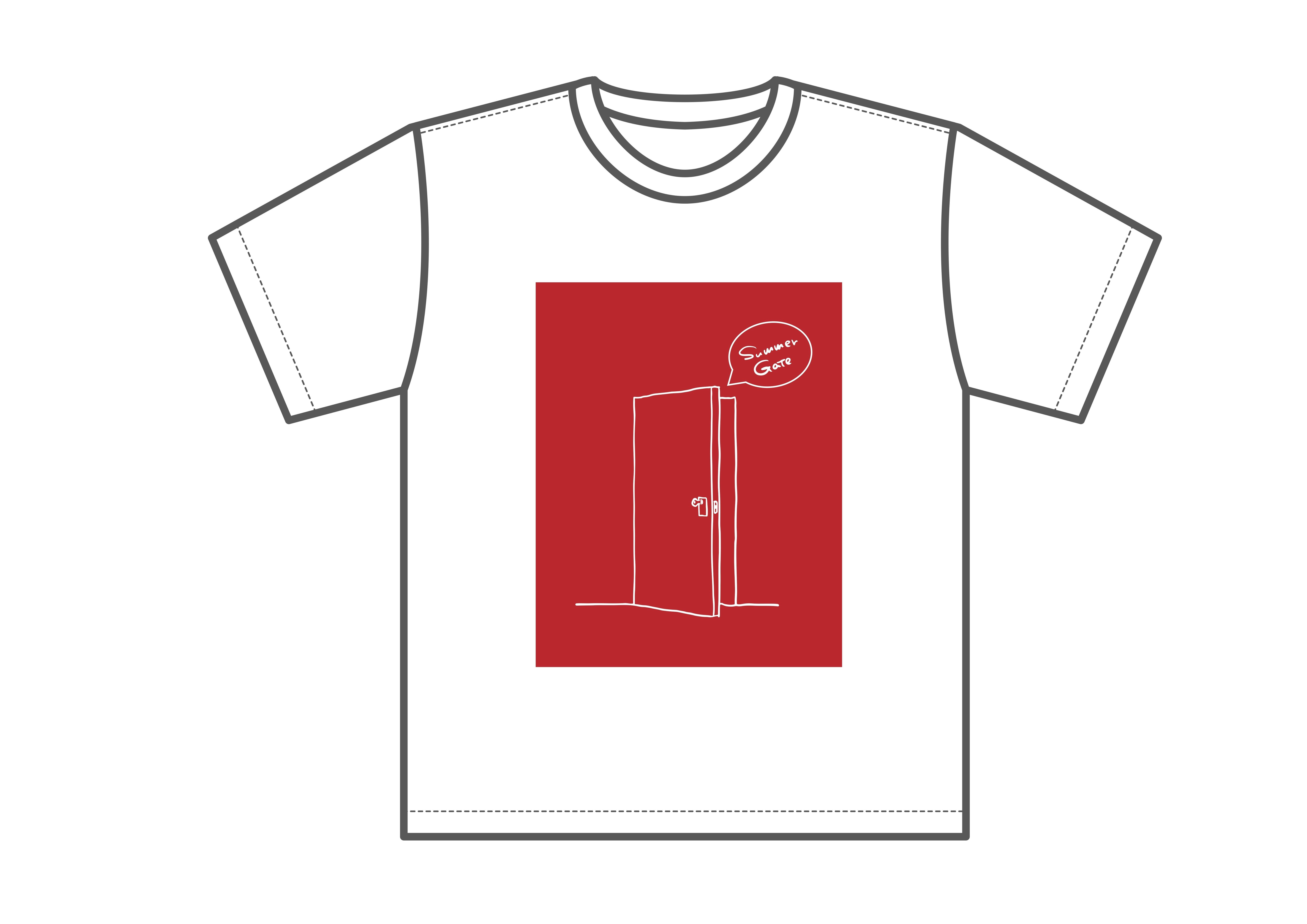 Summer gate Tシャツ(ホワイト)