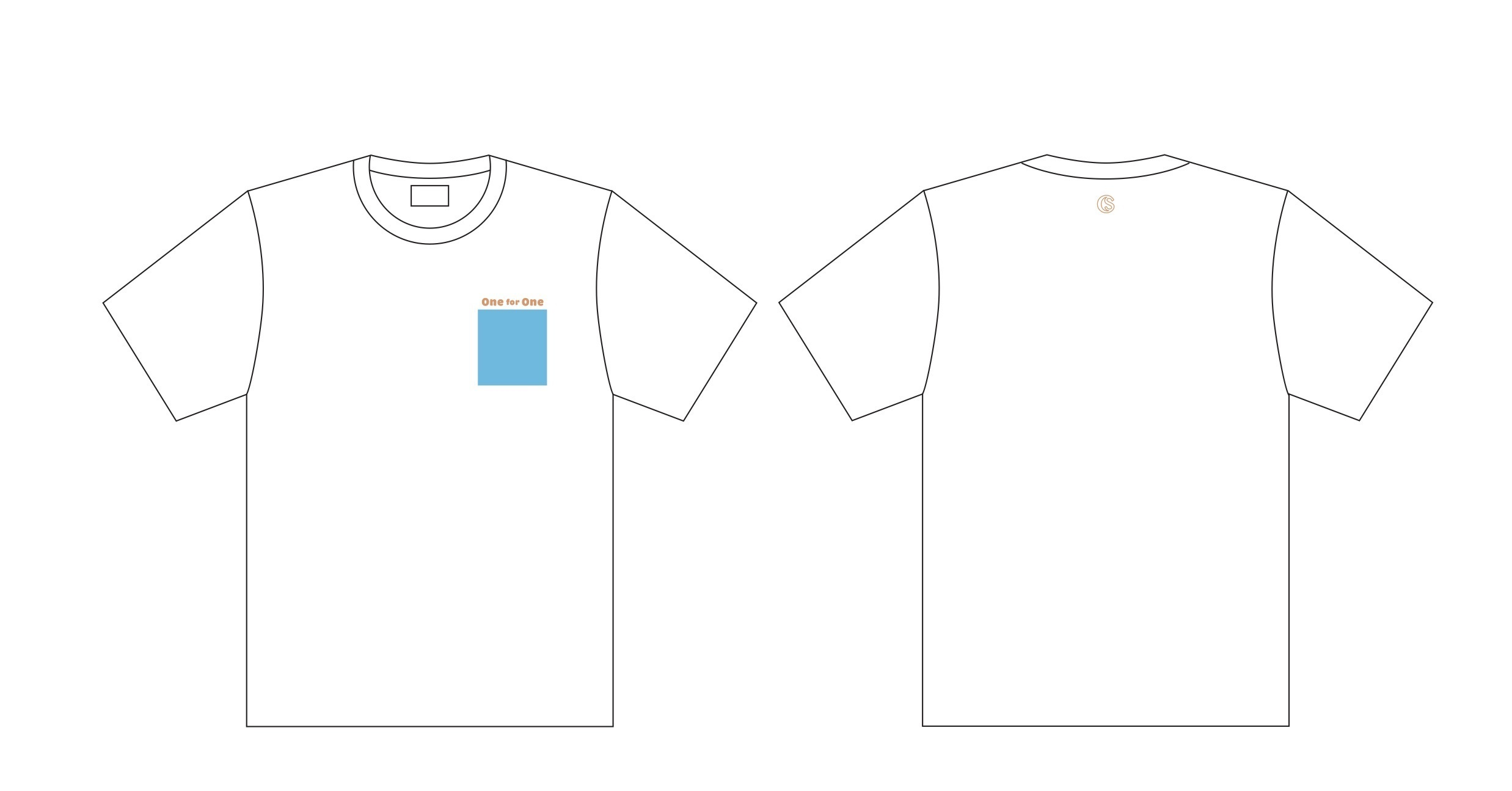One for One Tシャツ(ホワイト)